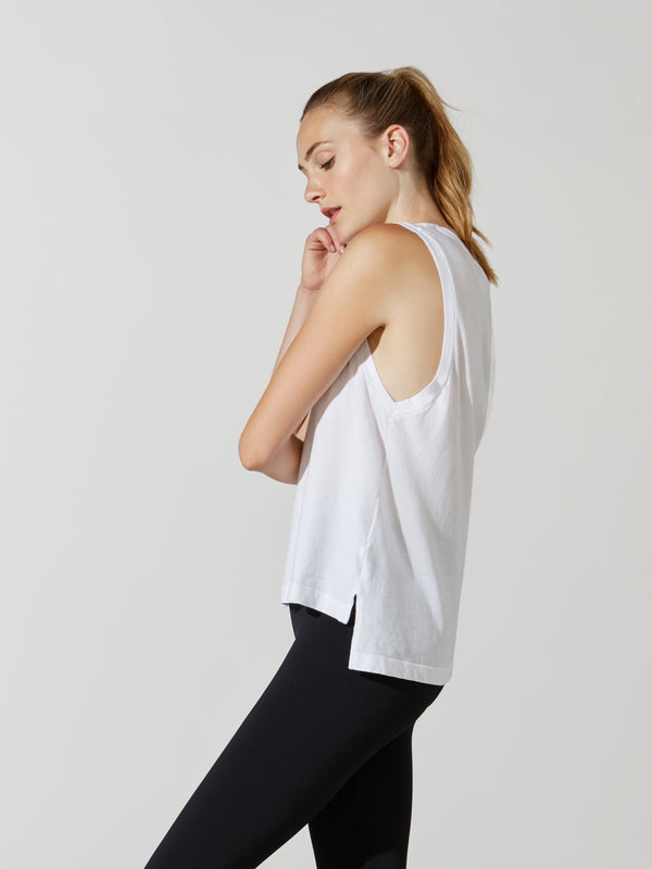 YEAR OF OURS WHITE POCKET MUSCLE TANK