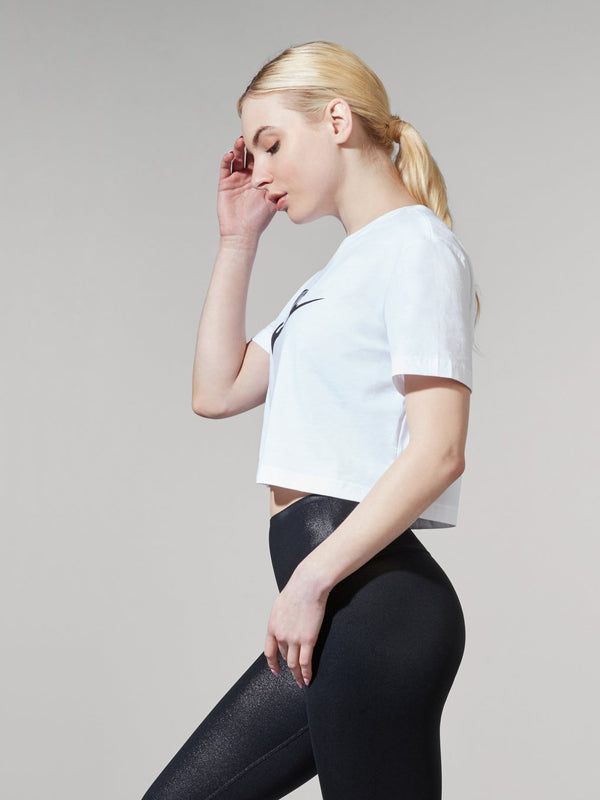 NIKE X BARRY'S WHITE ESSENTIAL CROP TEE