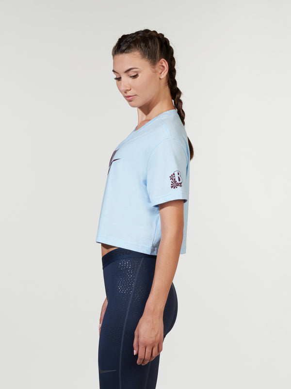 NIKE CELESTINE BLUE ESSENTIAL CROP TEE