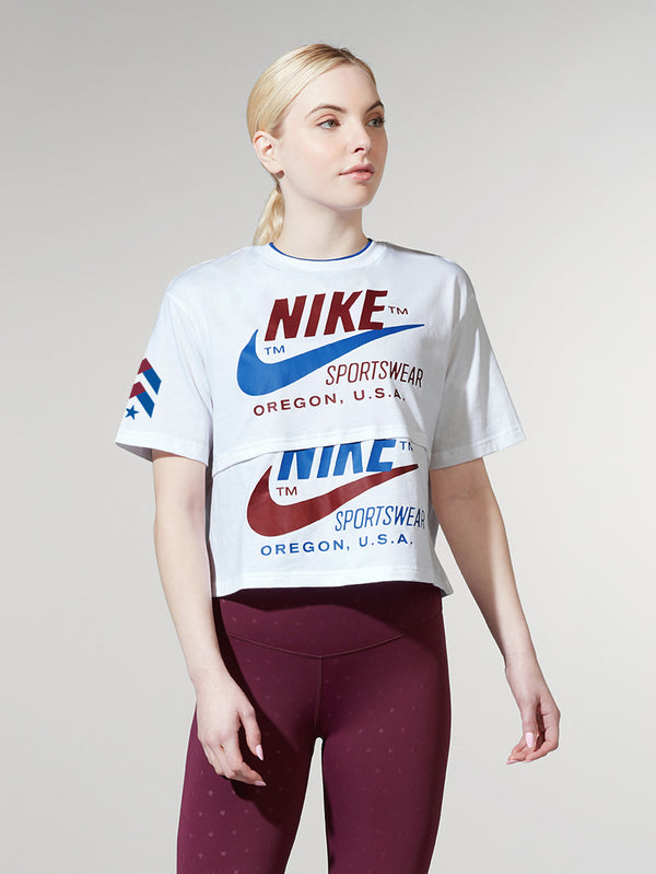 NIKE X BARRY'S WHITE ICON CLASH TEE