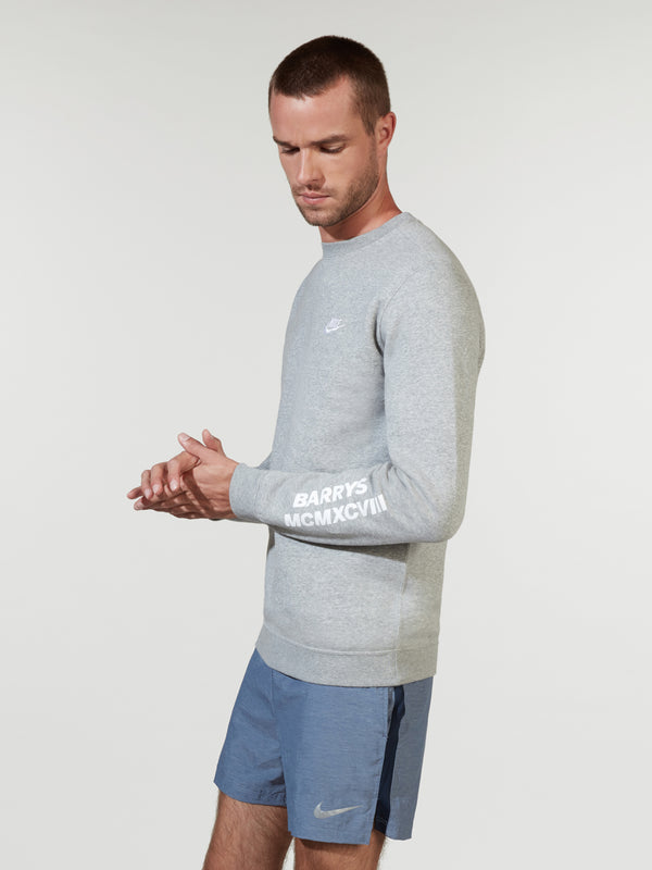 NIKE X BARRY'S HEATHER GREY SPORTSWEAR CREW