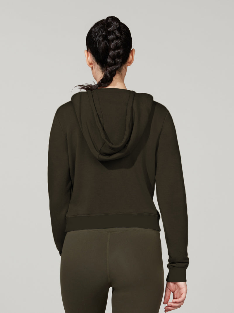 BARRY'S DARK OLIVE COZY MODAL HOODIE LOCATION SPECIFIC