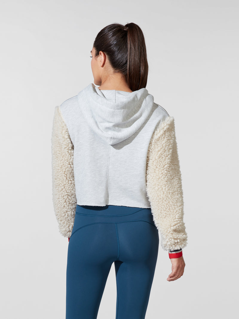 BARRY'S HEATHER GREY SHEARLING SWEATER