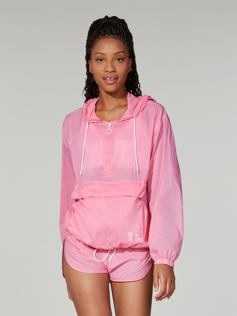 LESGIRLSLEBOYS X BARRY'S PINK NYLON PACK A MAC