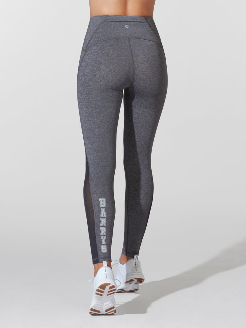 LULULEMON // BARRY'S HEATHER BLACK 25IN TRAIN TIGHT