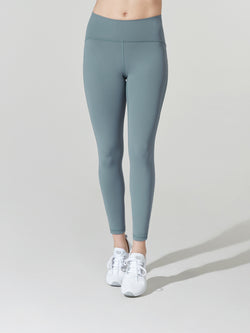 LULULEMON // BARRY'S BLUE CHARCOAL TRAIN TIMES 7/8 PANT