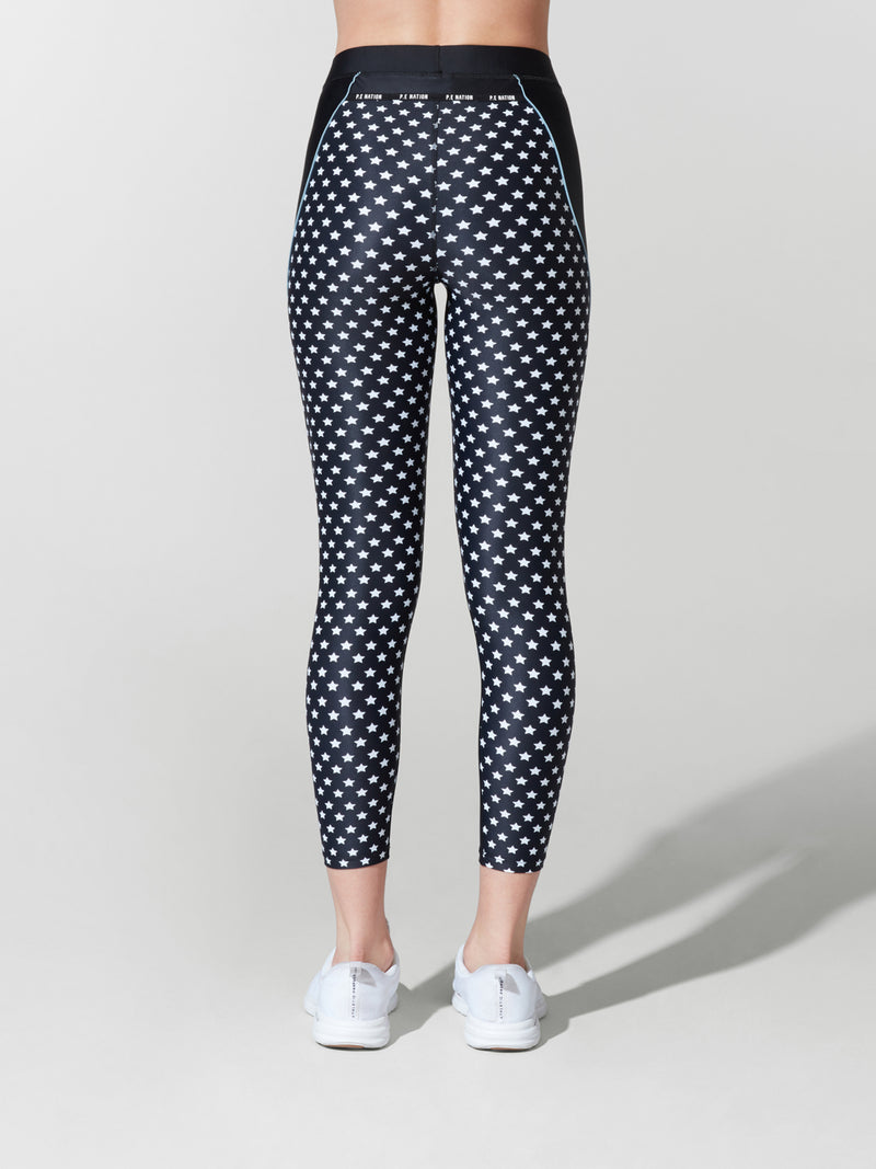 PE NATION STAR PRINT DOMINION LEGGING