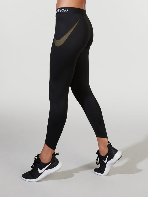 NIKE BLACK GOLD PRO TIGHT