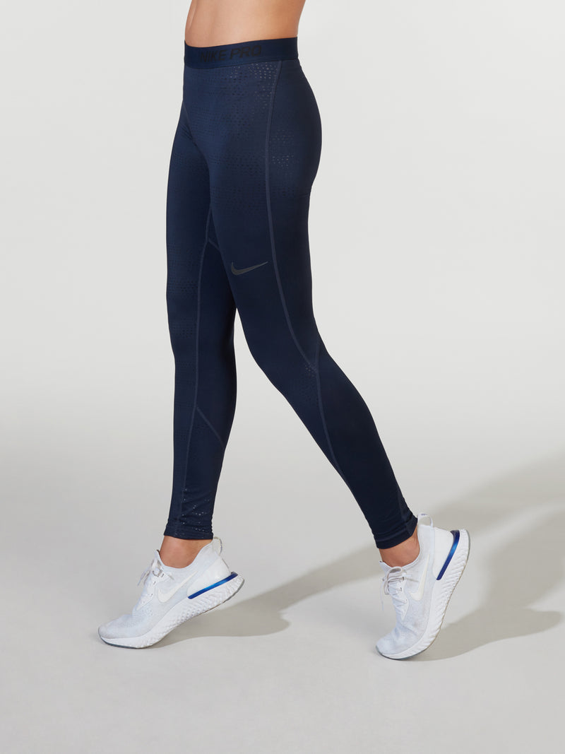 NIKE METALLIC OBSIDIAN PRO TIGHT