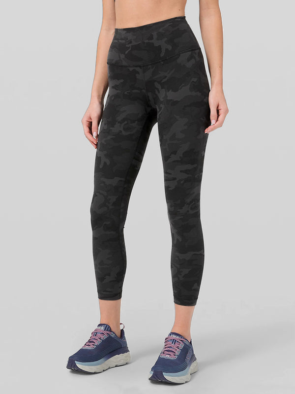 LULULEMON // BARRY'S INCOGNITO CAMO WUNDER TRAIN TIGHT 25 IN