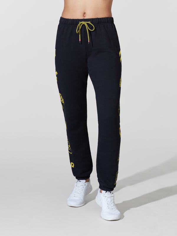 PAM & GELA X BARRY'S BLACK GYM SWEATPANT