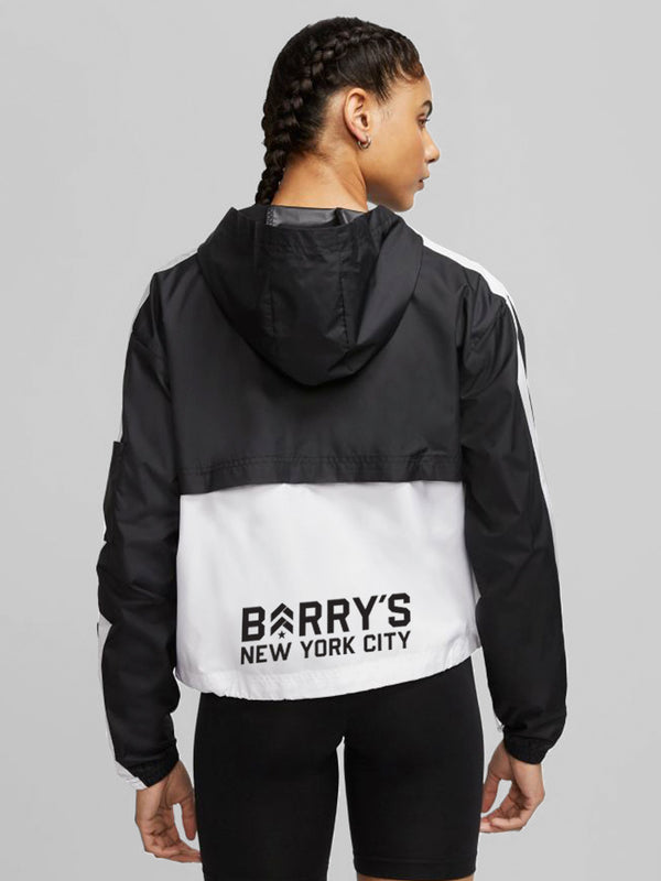 NIKE NSW WOVEN JACKET BLACK/WHITE LOCATION SPECIFIC
