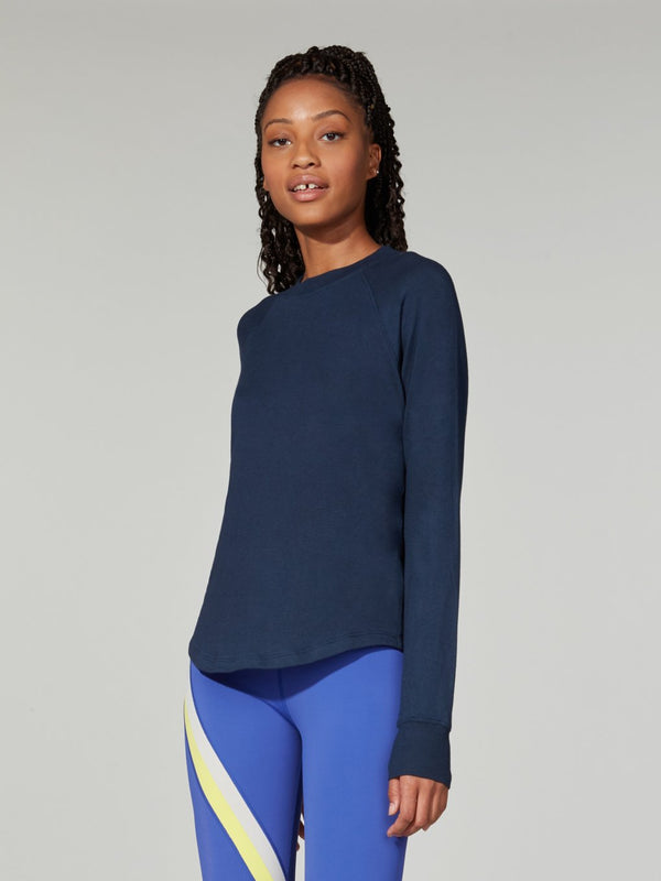 SPLITS59 NAVY WARM UP SWEATSHIRT