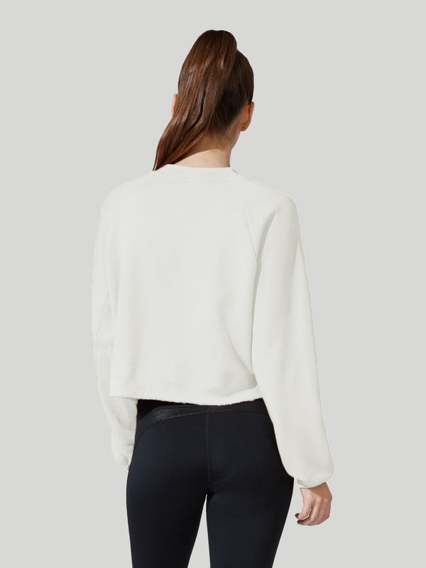 BARRY'S WHITE CROP PULLOVER