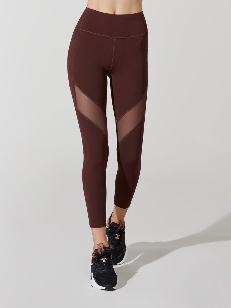 LULULEMON X BARRY'S MIDNIGHT MAROON STRONGER AS ONE TIGHT