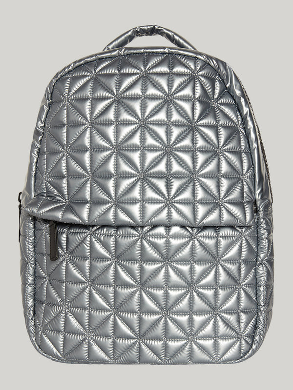 VEE X BARRY'S PLATINUM METALLIC BACKPACK