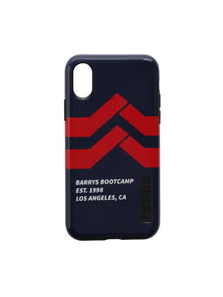 Black phone case with red Barry's chevron logo