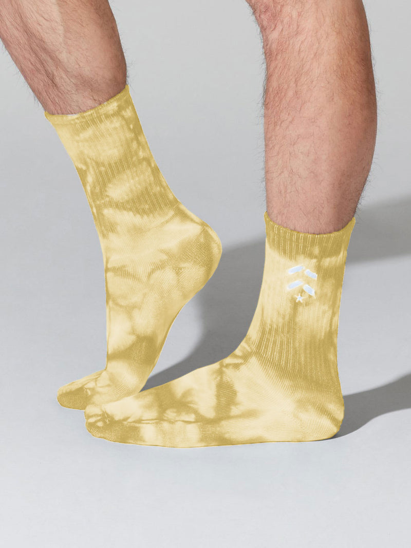 BARRY'S YELLOW TIE DYE SOCKS