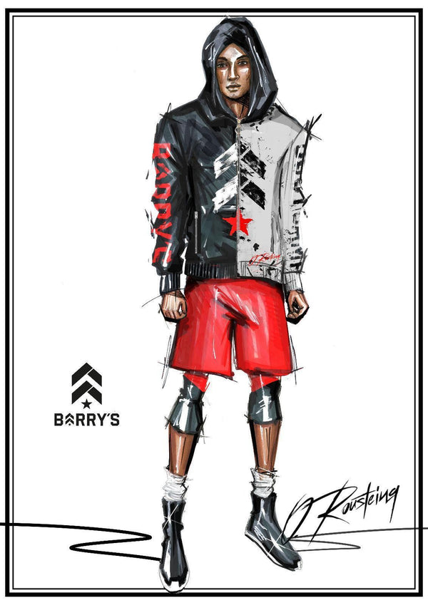 Barry's x Olivier Printed Zipped Hoodie (4/5)