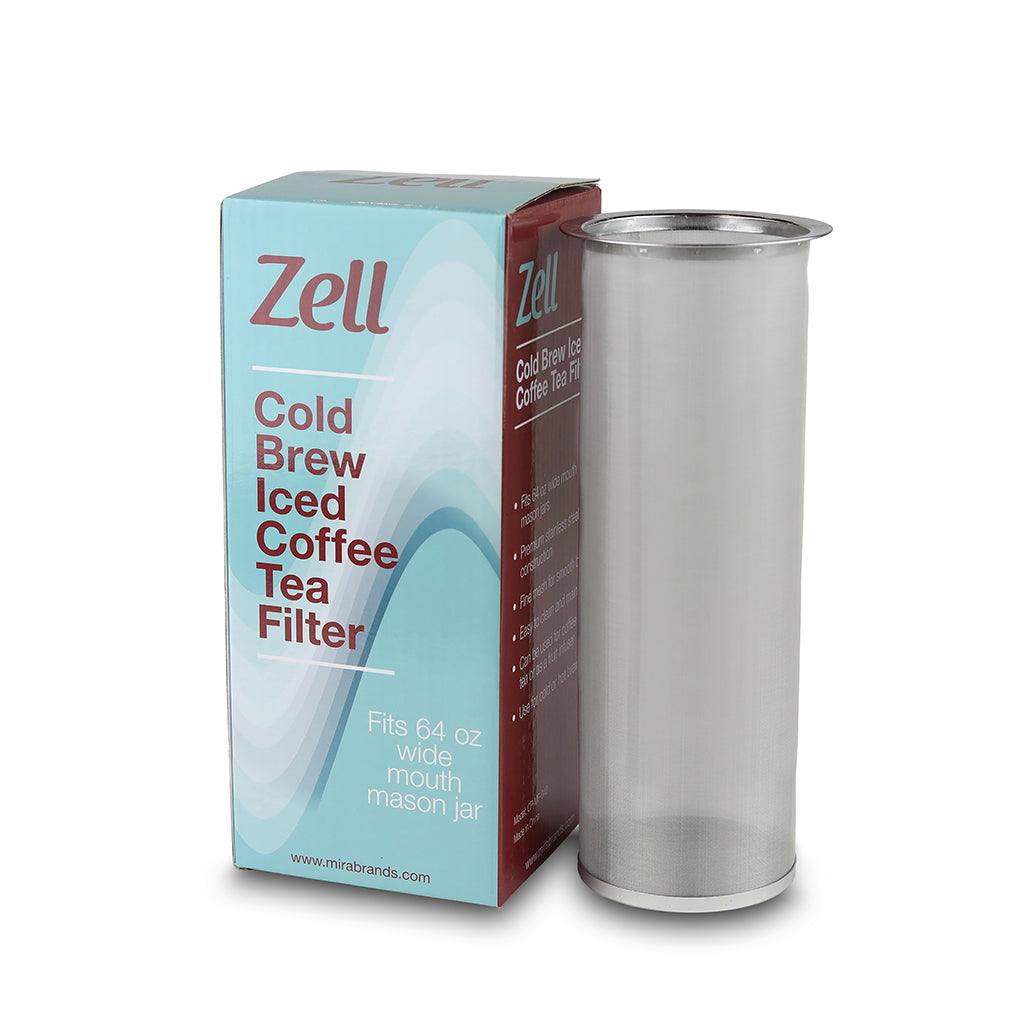 Stainless Steel Cold Brew Coffee & Iced Tea Filter | 64 Oz (2 Quarts)