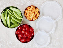 Stainless Steel Food Containers | Set of 3 | Clear