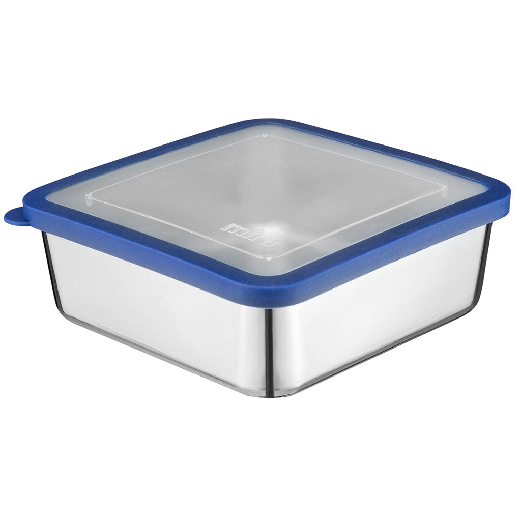 Stainless Steel Lunch Box | 6 x 6 in | Transparent, Navy