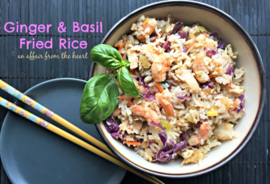 Ginger & Basil Fried Rice ~ With Oh Yeah Seasoning