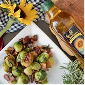 Brussel Sprouts with Toasted Pecans | Healthy Side Dish For Any Occasion