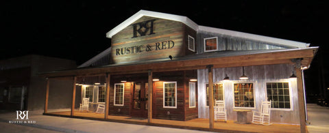 Rustic & Red Exterior of Gift Shop in Cozad