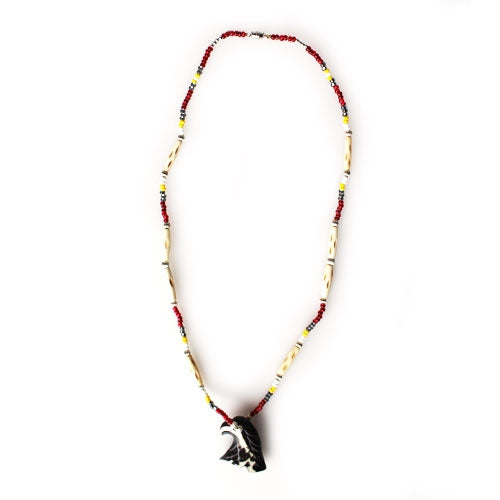 Lakota Crafters Eagle Head Necklace by Brenda Good Lance
