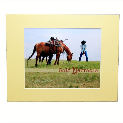 2 The Ends of the Earth Color Golf Nebraska Cowboy Photograph