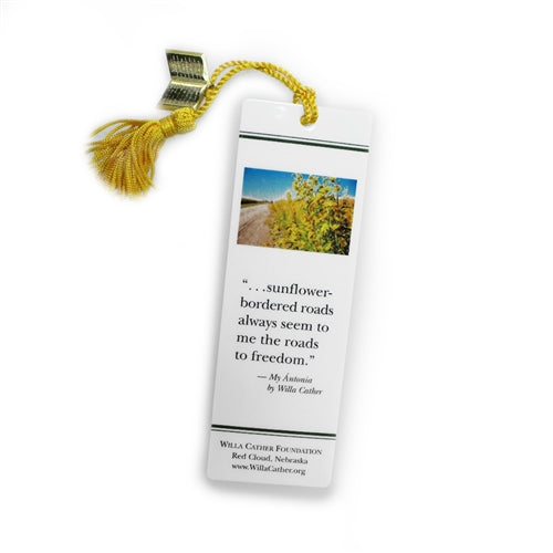 Willa Cather Foundation Sunflower Bookmark