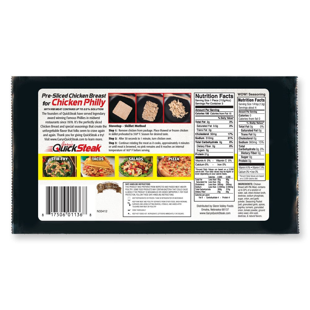 Chicken Pack of 7 | Thin Sliced Quality Chicken | Easy & Quick to Cook | FREE Shipping