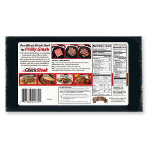 100% Sirloin Beef Steak 7 or 15 Pack | Thin Sliced Quality Sirloin | Easy & Quick to Cook | FREE Shipping