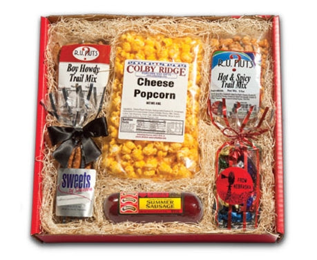 From Nebraska Gift Shop's Nebraska Snacks Basket