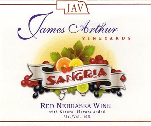 James Arthur Vineyard Nebraska Sangria