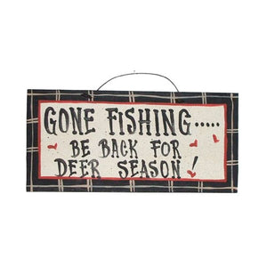 IM's Countryside Painting Gone Fishing ... Be Back for Deer Season Sign
