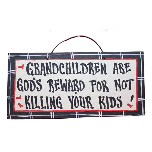 IM's Countryside Painting Grandchildren Are God's Reward For Not Killing Your Kids Sign