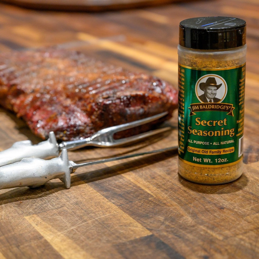 Jim Baldridge Secret Seasoning 4.7 oz | All-Purpose | Preferred by Cattlemen | MSG & Gluten Free