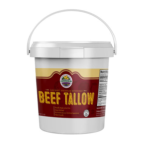 Premium Rendered Beef Tallow Tub | No Added Preservatives