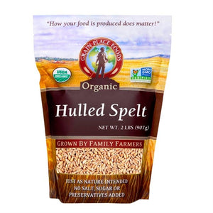 Grain Place Foods Non-GMO Organic Hulled Spelt 2lb Bag