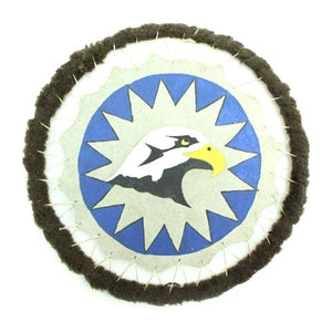Lakota Crafters Eagle Painting on Leather by George Cuny