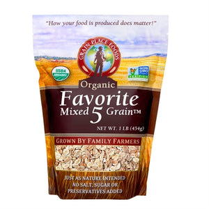 Grain Place Foods Non-GMO Organic Favorite Five Mixed Grain 1lb Bag