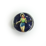 Create Pin Up Girl Glass Magnet #1