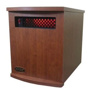 Original 1500 Infrared Heater-Made in USA-Cherry Wood by Sunheat International