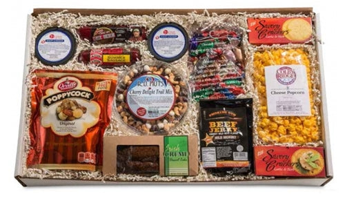 From Nebraska Gift Shop's Bountiful Snacks Gift Basket