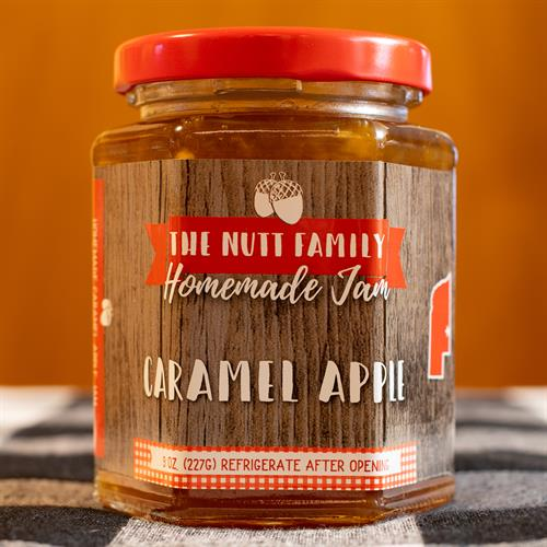 Caramel Apple Jam 9oz. | Jam That Takes Like A Caramel Apple | Nutt Family Jams & Jellies