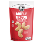 Pear's Gourmet Maple Bacon Cashews | 4 oz. Bag | Shipping Included Options | FREE Shipping on 6 Pack
