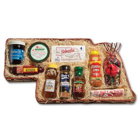 Nebraska Pride Gift Basket, Ultimate Nebraska Food Pack, Best Nebraska Food Sample Pack Gift Basket