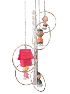 Peanuts Characters Wind Chime | Includes Snoopy's Dog House | FREE Shipping